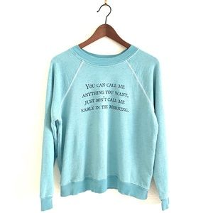Wildfox Sweatshirt You Can Call Me Anything Mint